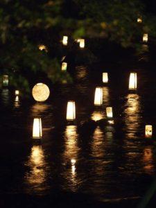 貴船神社の近くの川